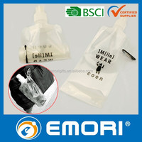 Top quality reusable soft plastic disposable water bottle / spray bottle / bottle with carabiner