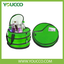 BSCI factory Aluminium foil cooler bag thermal bag Insulated round cooler bag