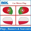 Portugal National view car mirror cover flag.Display car mirror flag covers,custom logo car mirror flag