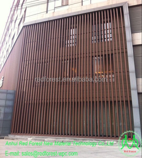 Decoration outdoor wood plastic composite wall panel cladding buy exterior wood wall panels for Composite wood panels exterior