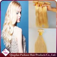 Grade 8a virgin brazilian hair #613 blonde colored hair weave straight new style crochet braids with human hair