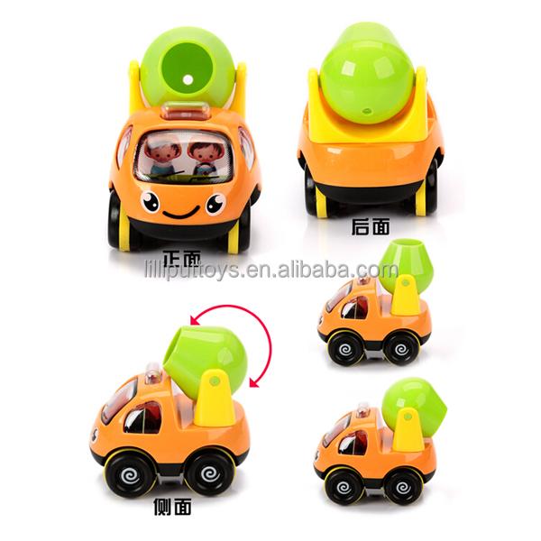 beb de juguete de diseo de dibujos animados tire hacia atrs del coche camin de