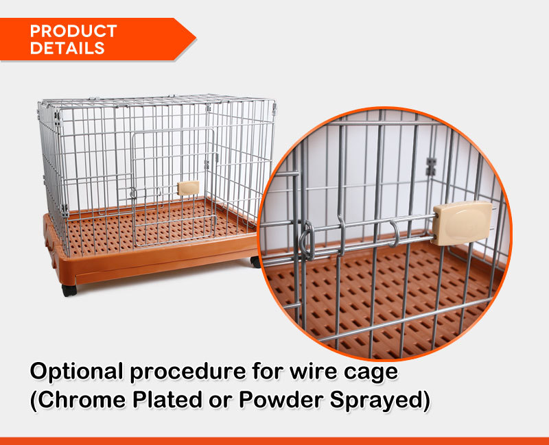 Strong large steel iron welded wire mesh dog cage