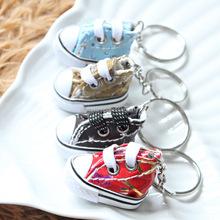 3D pvc 3d mini sneaker keychain