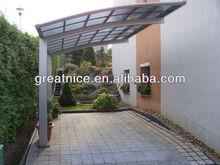 Best selling 2015 new design populary aluminium frame garage/shelter/carport
