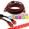 1.5m Stock HDMI Cable For HDMI Splitter Switch Extender Repeater Converter Adapter OEM 1m 1.8m 2m 3m 5m 10m 15m