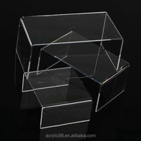Transparent modern clear acrylic computer monitor stand with factory price