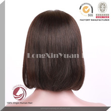 fashion full lace wig indian/european/philippine human hair wig gloss short silky straight glueless full lace wig