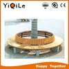 Wooden leisure bench for outdoor park