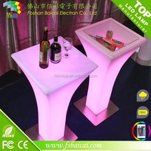 led glowing table,illuminated led bar table,illuminated lounge LED table