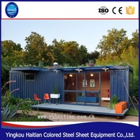 Shipping 20 and 40 feet high-quality steel framed prefab home container houses for sales