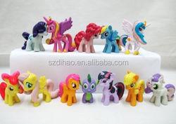 DIHAO 2015 Kids Baby 12 Colors horse Cartoon Dolls Lovely Boys Girls My Little Pony plastic Toys