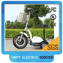 2015 hot sale zappy scooter three wheel electric scooter 350W/500W(Green-TBZ01)
