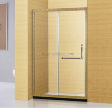 (A-8950) one fixed one sliding shower glass bathtub door