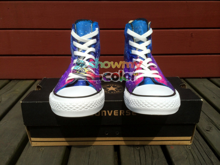 nebula galaxy painted converse shoes for
