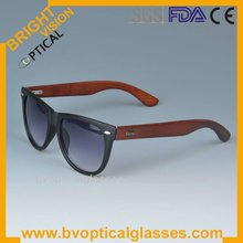 Mixed wholesale plastic frames with wood temple polarized sunglasses(5117)