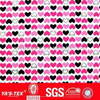 FASHION heart printed stretch fabric for swimwear