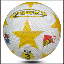 mini football rubber ball/size 3 leather football/simple rubber soccer ball