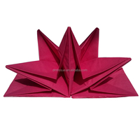 Pre-folded napkins- star folding