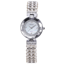 W4790 Silver Rose Gold japan movt quartz watch diamond Pearl