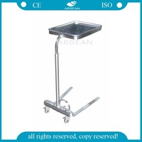 AG-SS008C Operation room hospital metal frame rolling work carts