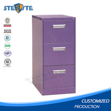 Anti-tilt steel drawer filing cabinet with hanging file rod