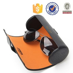 Wholesale direct from factory newest product Cylindrical original leather sunglass case