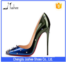 Jushee 2016 Sexy Womens Fashion Shoes Latest Design Pointed Toe High Heels ladies shoes JS-H-229