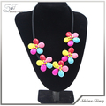 2014 Beautiful Colorful Turquoise Stones Flowes Choker Necklace Jewelry