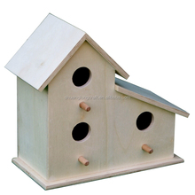 2016 china supplier custom new unfinished wooden bird house wholesale
