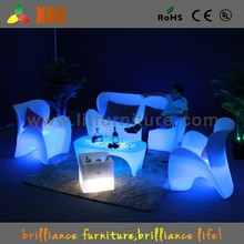 indoor led sofa,Waterproof PE plastic glowing led sofa,modern sofa