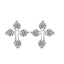 2015 new models of small gold earrings zircon earring designs for women