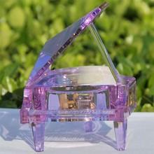 purple crystal mini grand piano gift