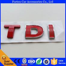 Red TDI Car ABS Chrome 3D Letter Nameplate Sticker Badge Emblem