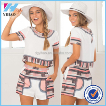 wholesale 2 piece set for girls tops and shorts set for girls