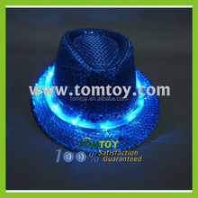 Blinking Led Jazz Hat Sequin Colorful Infrared Led Hat
