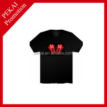 comfortable polyester with good quality on promotion T-shirt