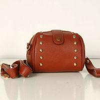 Women New Fashion PU Leather Rivet Mini Messenger Bags Little Handbag, Lovely Sequined Tote Bag 7601