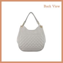 White PU Hobo Bag PU Handbag With Qulited Gride