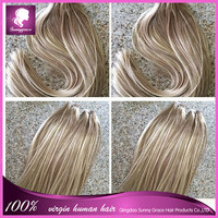 Ombre 100% Brazilian Remy Tape Hair Extensions 2 tone tape adhesive 40pcs/package Hair Extensions 7A Skin Tape hair weft