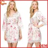 Relaxed fit long sleeves wrap front with detachable belt bath robe