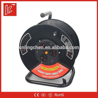 Weatherproof cable reel for earphone French Socket 16A