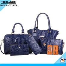 wholesale new product pu leather bag purses and handbags women set bag 6pcs lady handbag