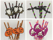 Pumpkin Decoration Halloween paper straws