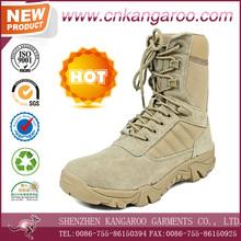hombre de la guarnición de la clavada tácticas ejercito Altama de gamuza botas de combate del desierto con cordones