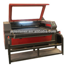low cost fabric/ leather laser cutting machine with auto feeding