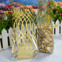 10x20cm Beautiful Golden Stripe + Cardboard Candy BOPP Plastic Bags