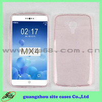 Ultra Thin Clear Crystal Gel Soft wholesale cell phone TPU Case for MEIZU MX4