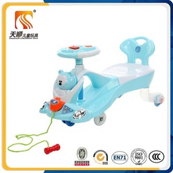 2016 hot selling baby wiggle car and plasma car top quality kid swing car