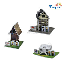 3d puzzle game manufacturer house model craft kit